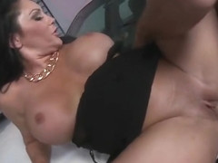 Marvelous busty mature Dayton Rains is making an amazing BJ
