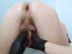Prostate Massage and Milking Cock - Cum in His Own Ass