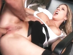 Awesome fair-haired MILF Angela Attison had hard core fuck
