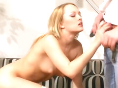 Blonde Blue Angel Takes Big Cock In Doggy Style
