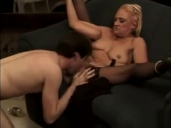 Naughty porn star Kathy Jones fucks.