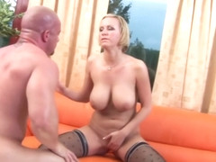 fucking a busty milf in the butt