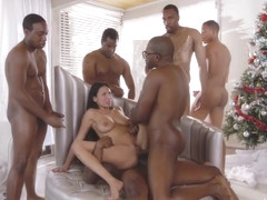 Anissa Kate - Interracial Gangbang