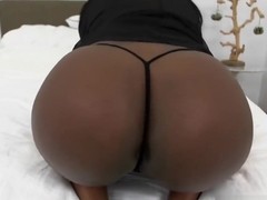 White Dong Pounds Ebony Layton Benton Tight Muff