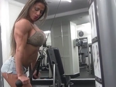 Sexy Muscle Girl Maria Garcia - Gym Workout Pt. 2