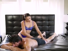 Beautiful Avi Love Gives Stepdad Sensual Oily Massage