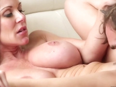 Kendra Lust fucks Logan Pierce on the couch