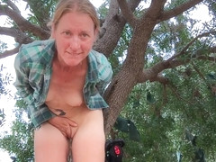 Horny Girls Butt Plug Bike Ride Masturbation Orgasm