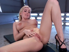 Amazing big tits, fetish xxx clip with fabulous pornstar Christie Stevens from Fuckingmachines