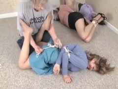 Man caught and hogtied three girls