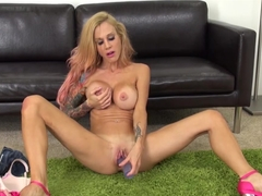 Incredible pornstar Sarah Jessie in Exotic Tattoos, Dildos/Toys adult clip
