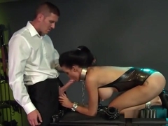 Hot buxomy girl in very hot hardcore video