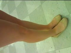 Nude Ballet Flats Candid