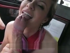 Nympho Stewardess Banged In The Backseat