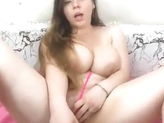 Busty Teen Blowjob And Pussy Fuck With Huge Dildo