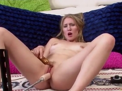 Attractive blond Riley Reynolds in hot amateur sex video