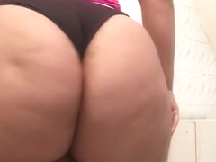 Big Booty Rice Bunny trying on panties for fans