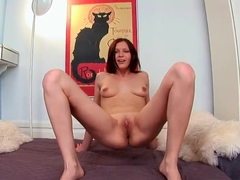 Valery Von rubs and fucks her shaved pussy