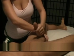 Happy Ending Massage . Fuck The Masseuse. Cum in Boobs swallowing sperm