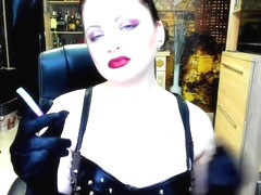 intox-sniff lipstick-stain on the cigarettes-cigarette dangle-joi