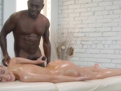Alexis Crystal loves to fuck with black men