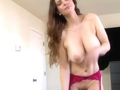 Big tits mom showing her naked body to her stepson - TabooStepMom
