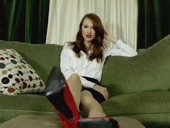 Goddess Kendra James - Lick my filthy shoes clean