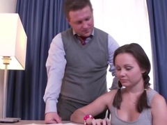 Russian Schoolgirl Blows Her Instructor