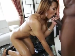 Supreme buxomy latina student Sophia Fiore in love with the facials