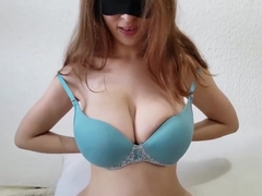 Thicci changes bras and bounces her big natural tits before taking a shower