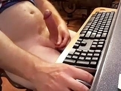 Hot fag is masturbating in his room and filming himself on webcam