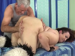 Crazed Masseur Rubs BBW's Body and Cunt