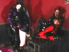 3Some Sybian Love With Rubber Doll Rubberella & Latex Slut!