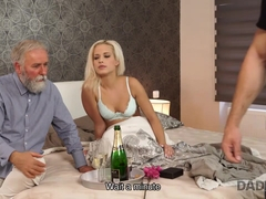 DADDY4K. Amazing dad and young girl sex ended with cumshot on ass