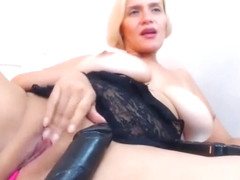 Excited Blonde Milf Loves Masturbation Show