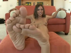 alicia tease foot fetish