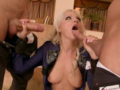 Alexandra Cat makes fantastic double blowjob