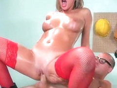 (August Ames) Horny Big Tits Girl Love Hard Bang In Office clip-02