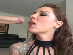Seducing dusky student Chayse Evans is making dude cum