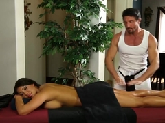 Huge Boobs Officer Massaged And Nailed By Her Perv Masseur
