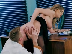Busty Waitress Alexis Adams Enjoys Chefs Huge Cock