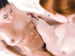 Karlee Grey & Lacy Lennon in Sensual Yoni Massage, Scene #01 - FantasyMassage