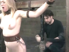 Young Blonde Tracey Sweet Spanked and Flogged in Bondage