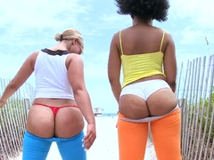 Daiquiri Divine and Paris showing big butts