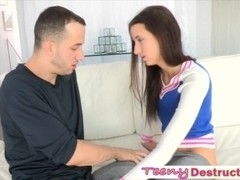 Skanky Belle Knox begged for huge shaft