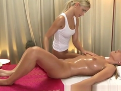 Massage Rooms Teen blondes get orgasms from fingering
