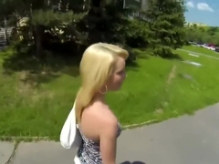 Slutty Blonde Fucks in the Backyard