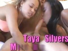 Hottest pornstars Mone Divine and Taya Silvers in amazing brunette, facial adult video