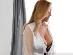 Step-Mom Julia Ann Stuffs Her Muff With Step-Son&#039_s Cock!