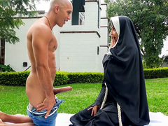 Erik Klein & Yudi Pineda in Dirty Nun Fucks The Gardener - BangBros